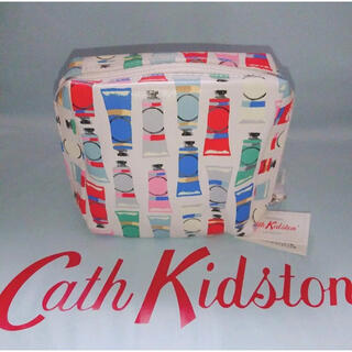 キャスキッドソン(Cath Kidston)の【新品未使用】キャスキッドソン スクエア メイクアップバッグ ペイントチューブ(ポーチ)