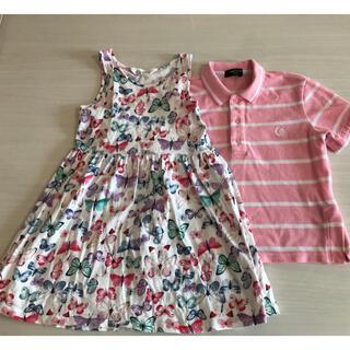 エイチアンドエム(H&M)のH&Mワンピース コムサポロシャツ 120cm 2枚セット 夏物大特価(ワンピース)