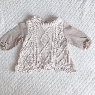 petit main - プティマイン セーター ニット 70センチ