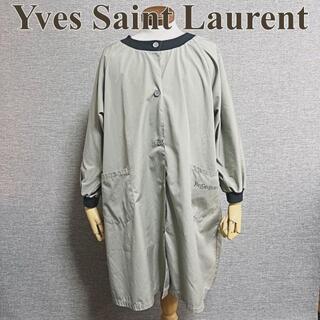 サンローラン(Saint Laurent)のイヴサンローラン コート グレー レトロ ヴィンテージ レア 希少 古着(スプリングコート)
