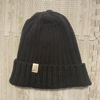 シマムラ(しまむら)のニット帽 しまむら プチプラのあや 黒色(ニット帽/ビーニー)