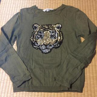 エイチアンドエム(H&M)のH&M カットソー トラ スパンコール(Tシャツ/カットソー)