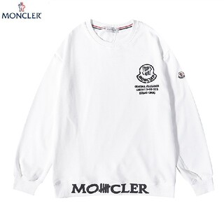 MONCLER - 2枚1000円引 MONCLER#082601 ロゴ付き スウェット  黒白