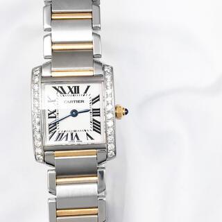 Cartier - 【仕上済】カルティエ タンク フランセーズ SM ダイヤ レディース 腕時計