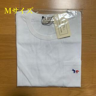 メゾンキツネ(MAISON KITSUNE')のメゾンキツネ トリコロールフォックスパッチ Tシャツ 白 Mサイズ(Tシャツ/カットソー(半袖/袖なし))