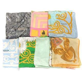 ランバン(LANVIN)のランバン スカーフ 7枚セット まとめ売り ヴィンテージ イタリア製 シルク(バンダナ/スカーフ)