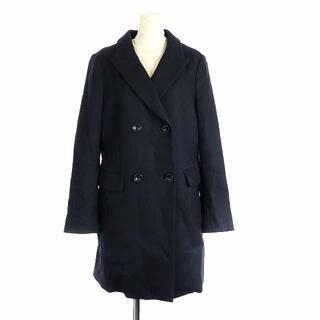ドゥーズィエムクラス(DEUXIEME CLASSE)のドゥーズィエムクラス コート ウール ひざ丈 36 S  黒 ブラック (その他)