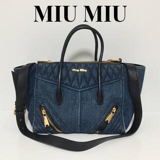miumiu - MIU MIU ミュウミュウ 2wayトートバッグ デニム ブルー