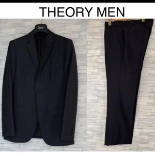 theory - THEORY MENセットアップ紺ストライプ36size