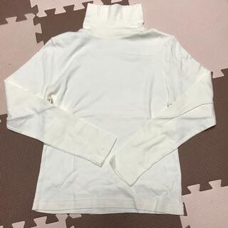 フェリシモ(FELISSIMO)のフェリシモ タートルネックTシャツ アイボリーカラー(Tシャツ(長袖/七分))