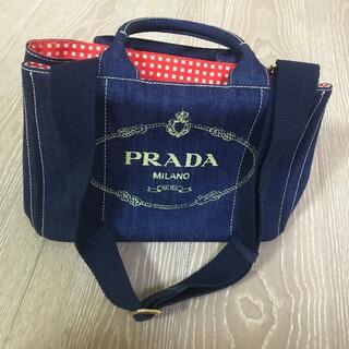 PRADA - 美品♡トートバッグ プラダ デニム カナパ♡