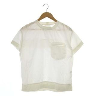 ビームス(BEAMS)のビームス 半袖プルオーバートップス カットソー 白 ホワイト /MF ■OS(カットソー(半袖/袖なし))