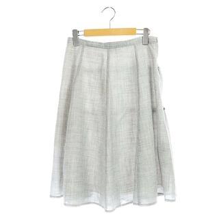 ルネ(René)のルネ ベーシック basic フレスカート ウール混 ロング 38 グレー(ロングスカート)