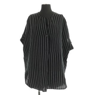 ジャーナルスタンダード(JOURNAL STANDARD)のジャーナルスタンダード ノーカラー ブラウス 半袖 ビッグサイズ ストライプ(シャツ/ブラウス(半袖/袖なし))