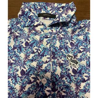 【efficace】バンビのワンポイント刺繍がかわいい花柄シャツ(ウエア)