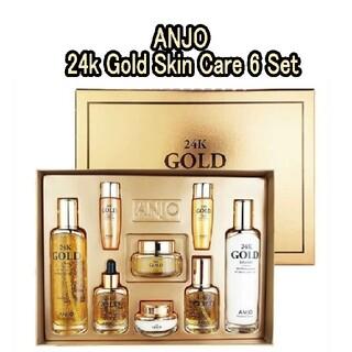 【韓国コスメ】ANJO 24k Gold Skin Care 6 Set