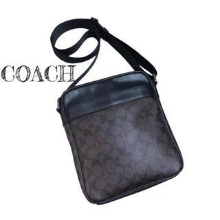 コーチ(COACH)の美品☆COACH コーチ シグネチャー ショルダーバッグ マホガニー ブラウン(ショルダーバッグ)