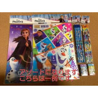 アナトユキノジョオウ(アナと雪の女王)のアナと雪の女王2 アナ雪2 3D下敷き 鉛筆 消しゴム 6点セット アソート(キャラクターグッズ)