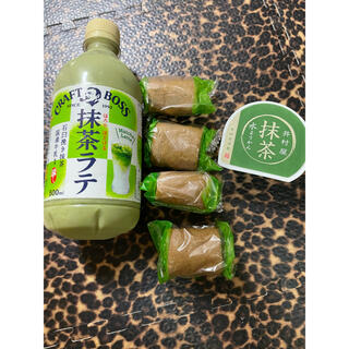 イムラヤ(井村屋)の抹茶ラテ、抹茶ロールケーキ、井村屋抹茶羊羹まとめ売り(菓子/デザート)