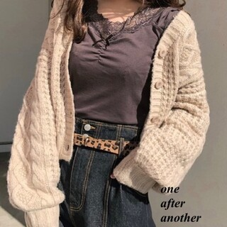 one after another NICE CLAUP - 新品 one after another リボン付ヒートインナー