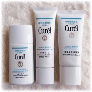 キュレル(Curel)のキュレル 潤浸保湿 UVミルク UVクリーム 日焼け止め 美容液 セット(日焼け止め/サンオイル)