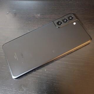 Galaxy - ほぼ未使用 au Galaxy S21+ 5G ブラック SIMロック解除済