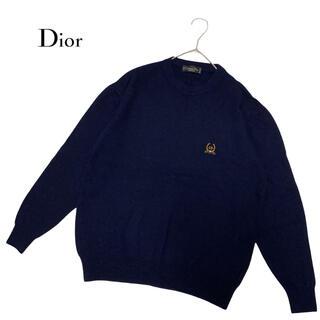 クリスチャンディオール(Christian Dior)の Dior ニット セーター 刺繍 ロゴ vintage 柄ニット 総柄(ニット/セーター)