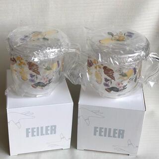 FEILER - フェイラー ノベルティ 2個 耐熱ガラスカップ 茶漉し付き