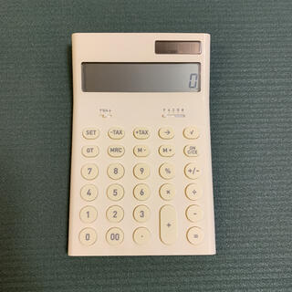 プラスマイナスゼロ(±0)のプラスマイナスゼロ 電子計算機 電卓 ホワイト(オフィス用品一般)