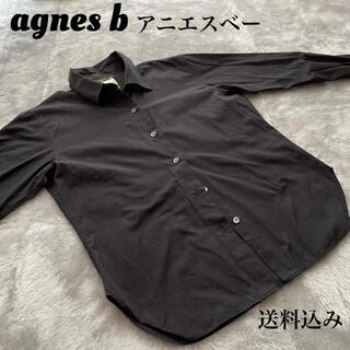 アニエスベー(agnes b.)のAgnes b. アニエスベー 長袖シャツ ブラック(シャツ/ブラウス(長袖/七分))