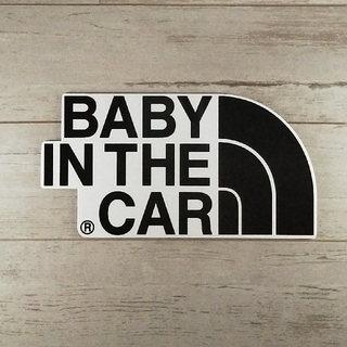 【ステッカータイプ】BABY IN CAR チャイルドシートとご一緒に(車外アクセサリ)