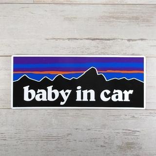 【ステッカータイプ】BABY IN CARパタゴニア チャイルドシート(車外アクセサリ)
