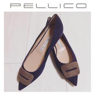 PELLICO - 59400円⭐︎ペリーコ ANIMAアネッリFIBBIA 新品24.5 ネイビー