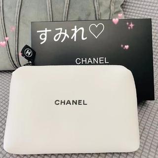 CHANEL - ♡CHANEL シャネル ポーチ 化粧ポーチ ホワイト 箱あり