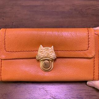 ツモリチサト(TSUMORI CHISATO)の★ツモリチサト 長財布 オレンジ 猫 ネコ(財布)
