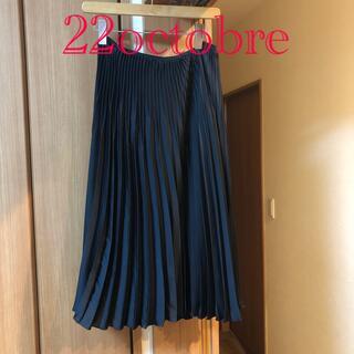 ヴァンドゥーオクトーブル(22 OCTOBRE)の22octobre プリーツスカート(ひざ丈スカート)