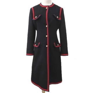 Gucci - グッチ 18AW パールボタン コート ロング ウール 国内正規 40 ブラック