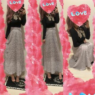 ディーホリック(dholic)のコーデセット♡ヒョウ柄リボン付きトップス+ロングスカート♡(セット/コーデ)