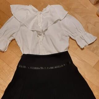 ナイスクラップ(NICE CLAUP)のNICE CLAUPブラウス&Naturalbeautyミニスカート(Tシャツ(長袖/七分))