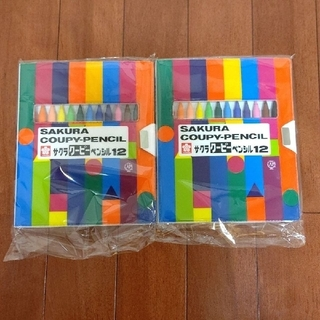 サクラクレパス - 【新品・未開封】サクラ クーピーペンシル 12色 2個セット