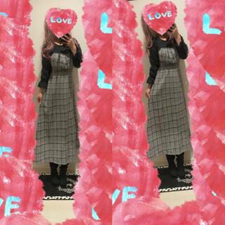 ダブルクローゼット(w closet)のW closet♡ビスチェ切り替え風ワンピース♡(ロングワンピース/マキシワンピース)