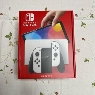ニンテンドースイッチ(Nintendo Switch)の新品未開封 Nintendo Switch有機EL ホワイト(家庭用ゲーム機本体)