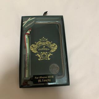 イングリウッド iPhoneXR Orobianco ブックタイプケース/ブラッ(モバイルケース/カバー)