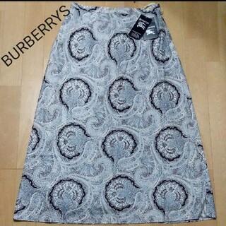 バーバリー(BURBERRY)のBURBERRYS ペイズリー柄 ロングスカート 新品(ロングスカート)