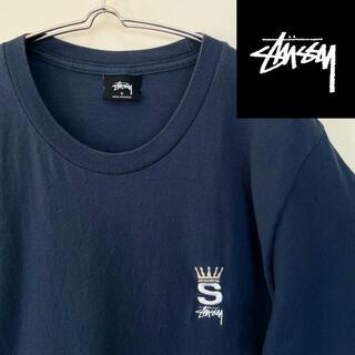 STUSSY - STUSSY ステューシー ロゴTシャツ 刺繍ロゴ