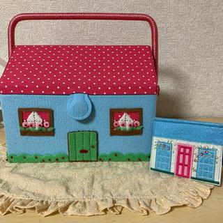 キャスキッドソン(Cath Kidston)のキャスキッドソン ハウス型 裁縫箱 ソーイングボックス ハウス型針置き(小物入れ)