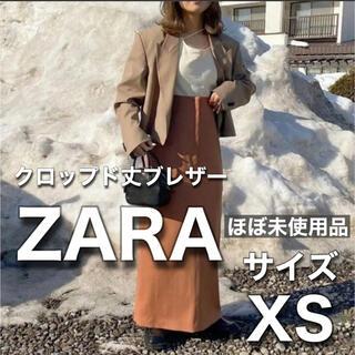 ザラ(ZARA)のZARA クロップド丈ブレザー 希少なXSサイズ インスタ人気の型番(テーラードジャケット)
