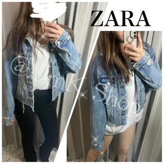 ZARA - ZARA ダメージ デニム Gジャン デニムジャケット