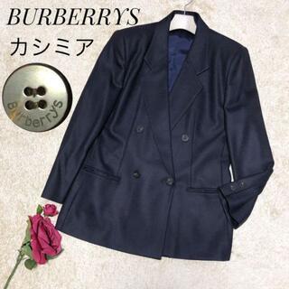 バーバリー(BURBERRY)の美品/高級♡バーバリーズ プローサム テーラードジャケット カシミア混毛100%(テーラードジャケット)