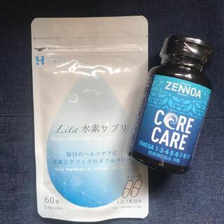 ゼンノアコアケア1個,リタ水素サプリ1袋
